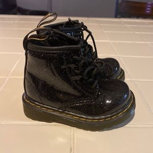 Baby Girl size 4 glittery Dr. Martens.